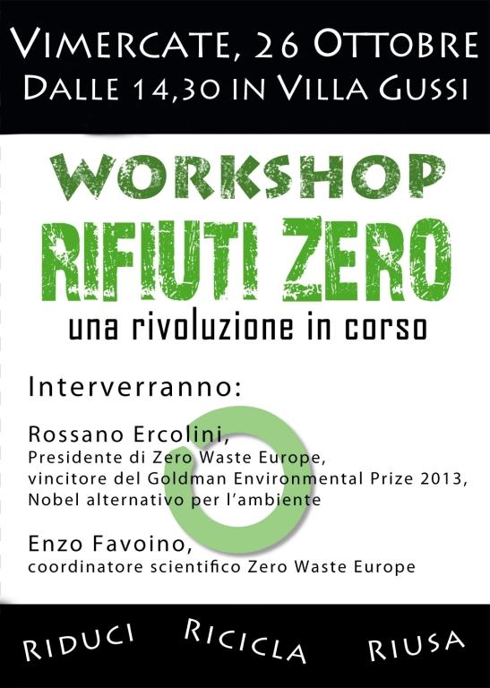 Workshop RifiutiZero Volantino